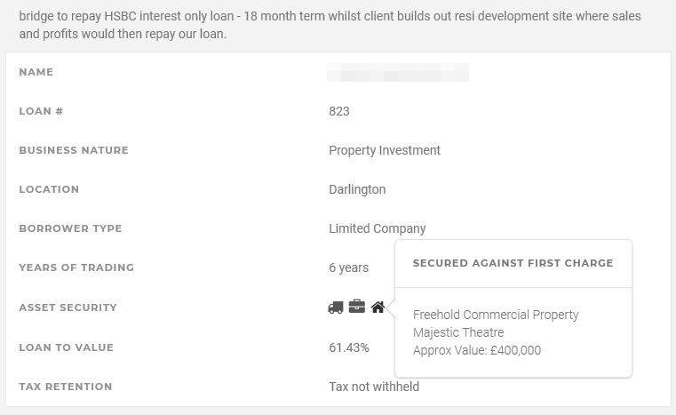 Assetz Capital Loan Security Screenshot