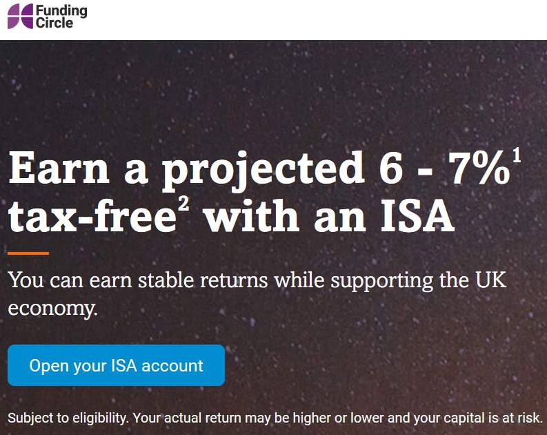 Funding Circle ISA Screenshot