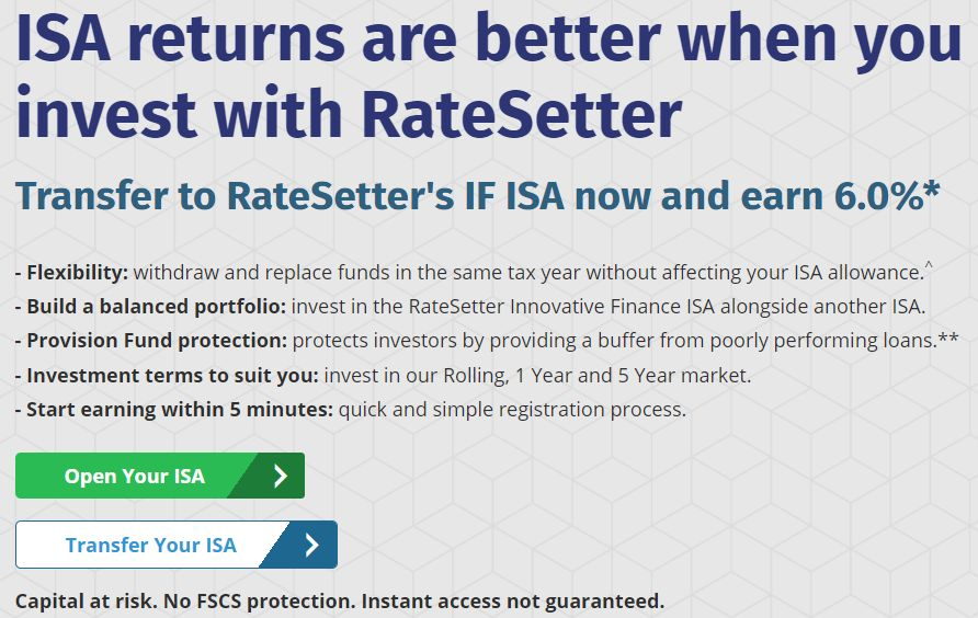 Ratesetter ISA Screenshot - RateSetter Review