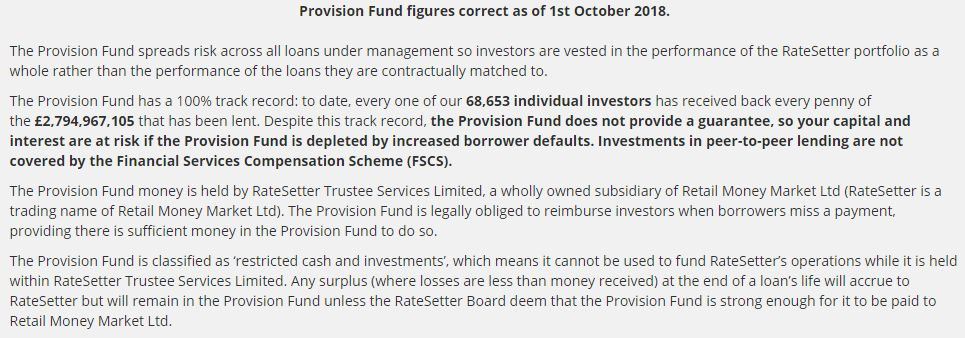 Ratesetter Provision Fund Screenshot 2