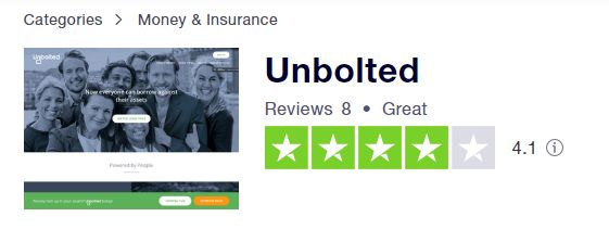 Unbolted TrustPilot Rating Unbolted Review