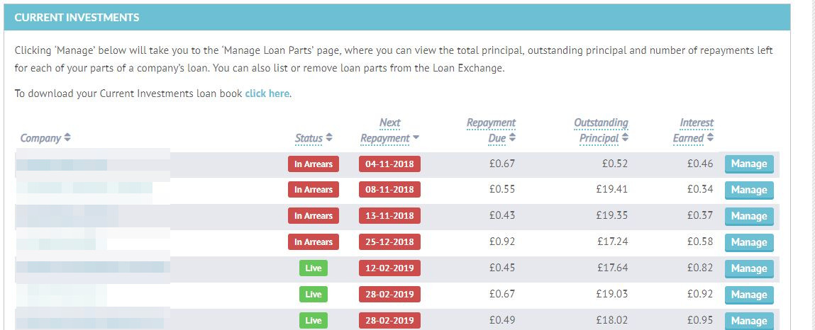 Lending Crowd Account Screenshot for Feb 2019 Update 1