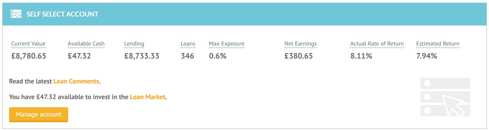 Lending Crowd Account Screenshot for Feb 2019 Update