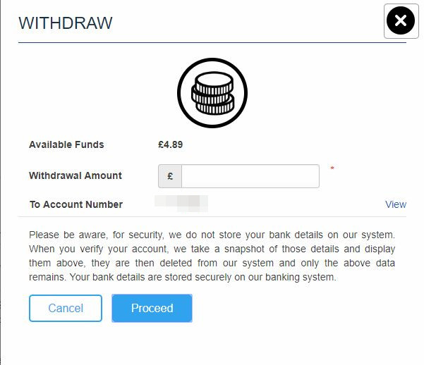 Withdraw Screenshot