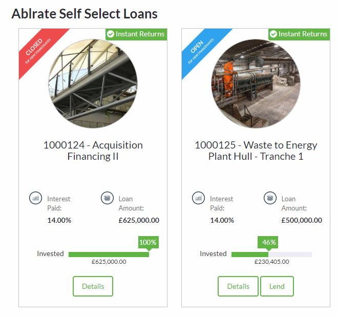 Ablrate Self Select Loans Screenshot for Peer to Peer Lending Update - June 2019