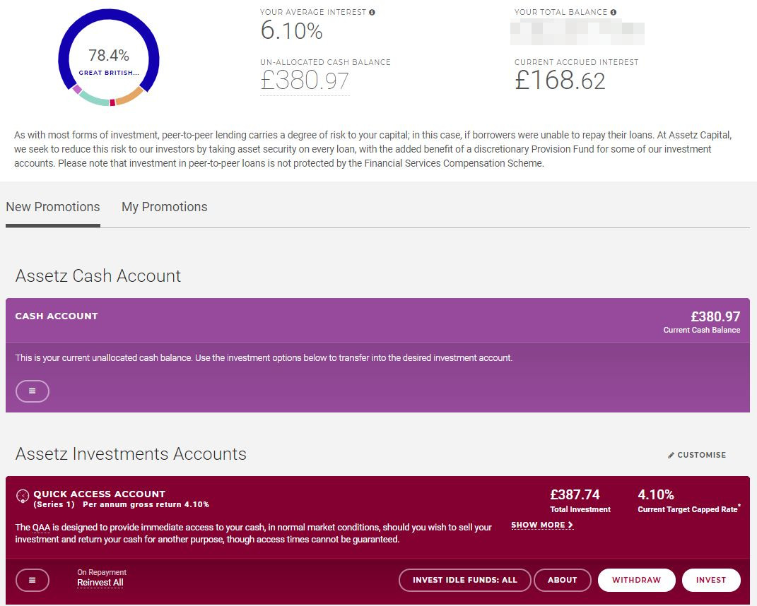 Assetz Capital Account Screenshot 1 - Assetz Capital Review