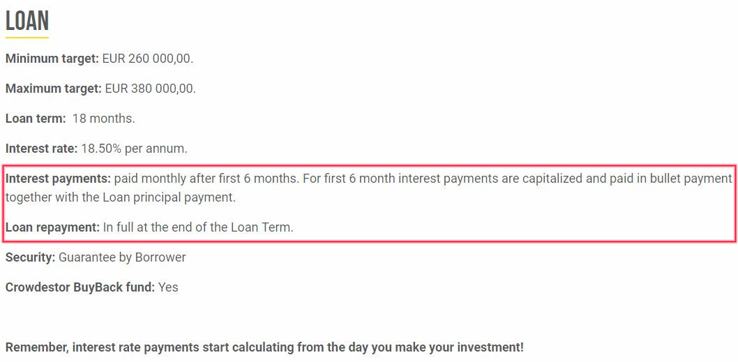 Crowdestor Loan Details 4 - Crowdestor Review