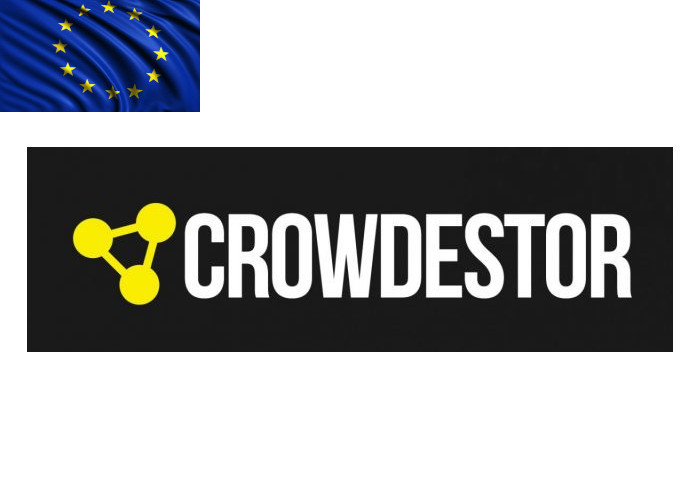 Crowdestor Review Logo with Flag