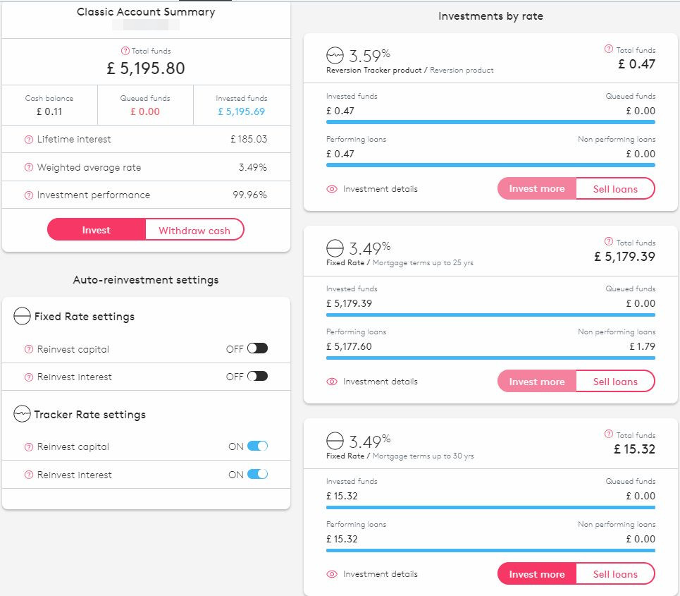 Landbay Account Screenshot for June 2019 Peer to Peer Lending Update 1