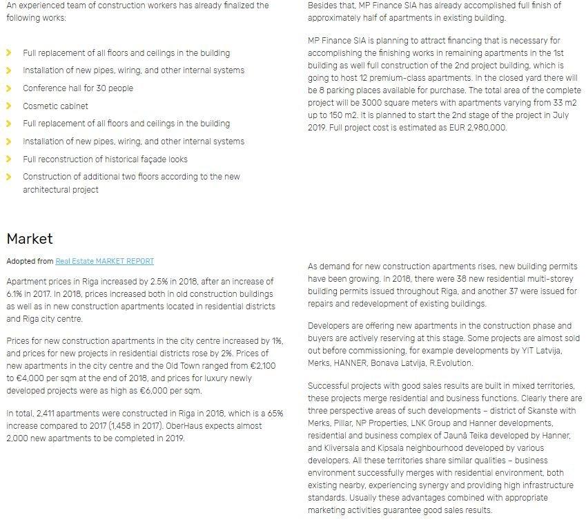 Envestio Investment Detail Screenshot for Envestio Review 2