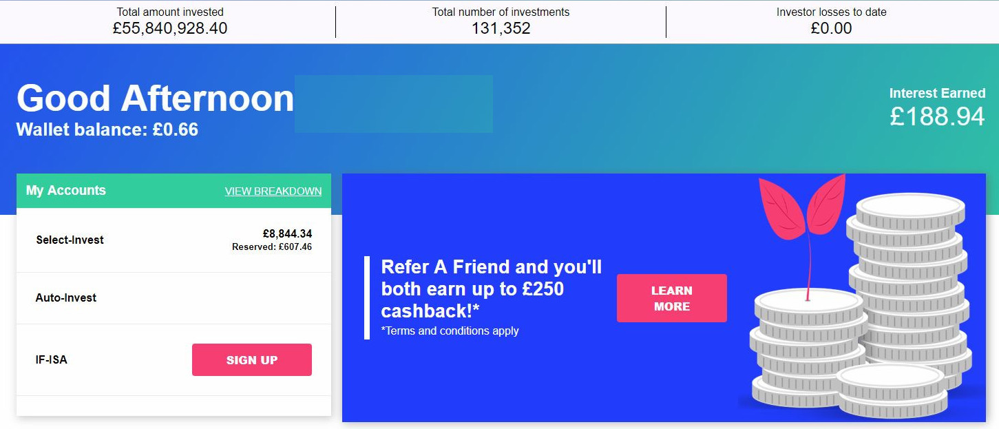 Kuflink Account Screenshot for Peer to Peer Lending July 2019 Update 1.1