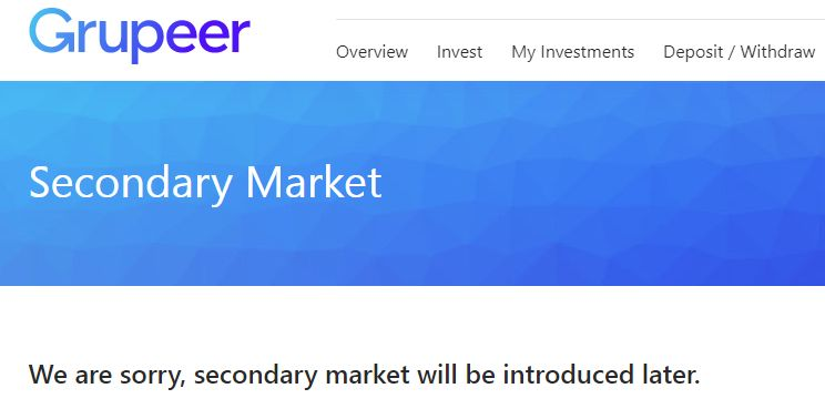 Grupeer Review - Secondary Market Screenshot