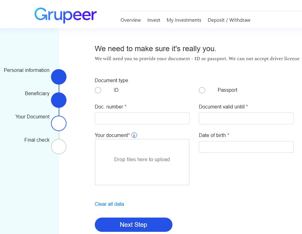 Grupeer Review - Signup Screen 3