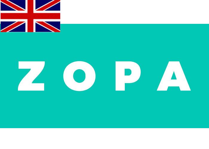 Zopa Review Logo with Flag
