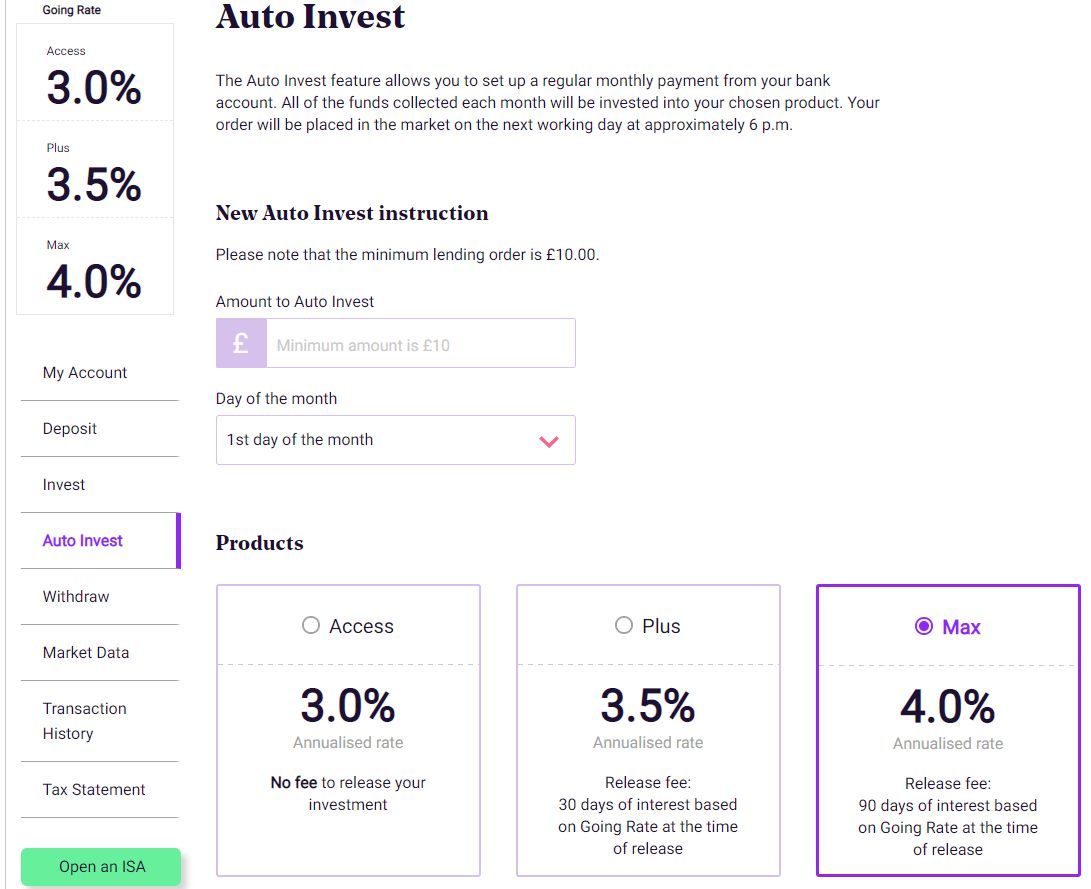 RateSetter Auto Invest Screenshot 1 - RateSetter Review