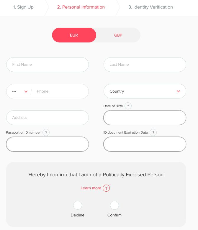Swaper Signup Screenshot 2