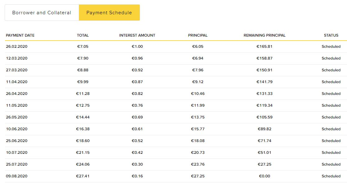 Viventor Payment Schedule Screenshot 1 - Viventor Review