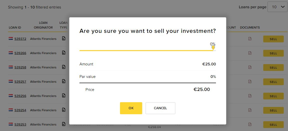 Viventor Sell Investment Screenshot 1 - Viventor Review