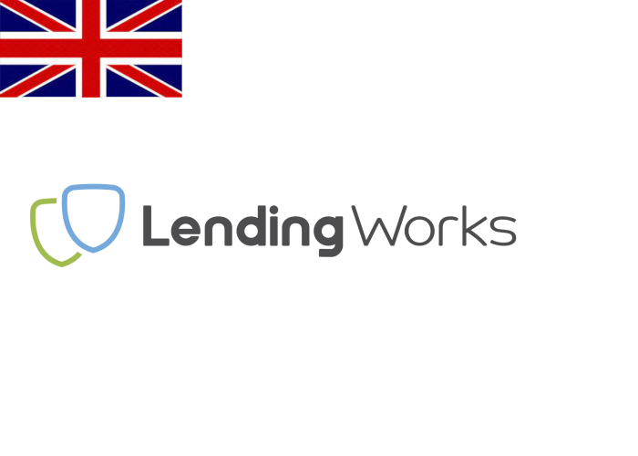 Lending Works Review Logo with Flag