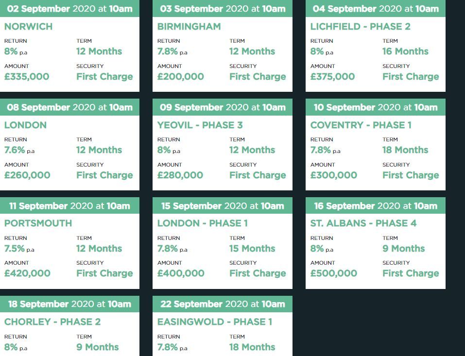 CrowdProperty Upcoming Loans Screenshot 1 - August 2020 update