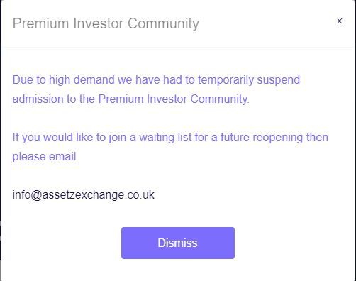 Assetz Exchange Premium Investors Warning - August 2021 Peer to Peer Lending Update